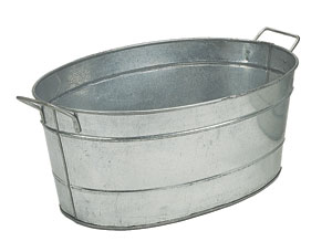 Galvanized Steel Tub: Oval / Galvanized Steel