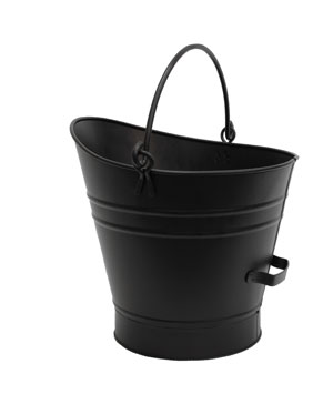 Coal Hod / Pellet Bucket - Small / PC - Black
