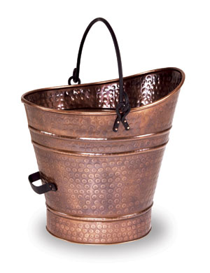 Coal Hod / Pellet Bucket - Small / Antique Copper Finish