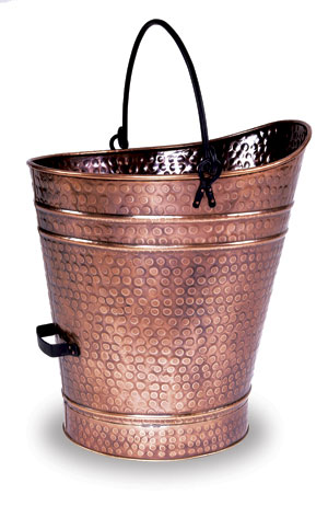 Coal Hod / Pellet Bucket - Large / Antique Copper Finish