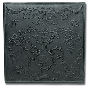 Hopewell Fireback / Cast Iron - Black
