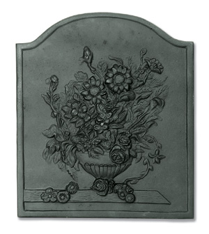 Bouquet Fireback / Cast Iron - Black