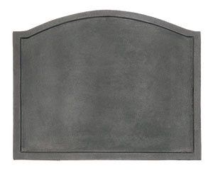 Plain Design Fireback / Cast Iron - Black