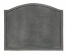Large Plain Design Fireback / Cast Iron - Black