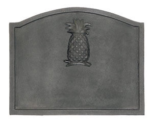 Large Pineapple Fireback / Cast Iron - Black