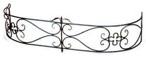 Fireplace Fender  -  Quatrefoil / PC - Graphite