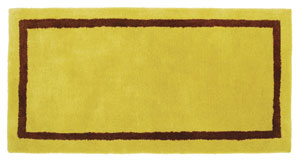 Rectangular Rug Amber/Green / Amber/Brown