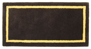 Rectangular Rug Deep Taupe  / Taupe/Yellow