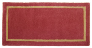 Rectangular Rug Sangria  / Red/Brown
