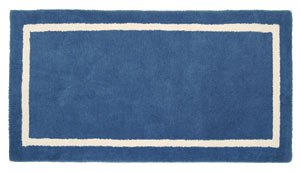 Rectangular Rug True Blue  / Navy/Biscotti