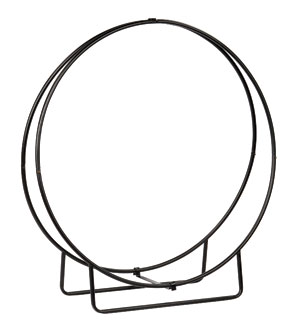 "Wrought Iron Wood Hoop - 48""H KD  - New!"