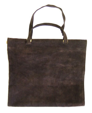 Suede (Dark Brown) Log Carrier