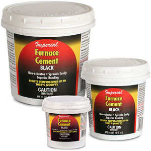 Furnace Cement (black)
