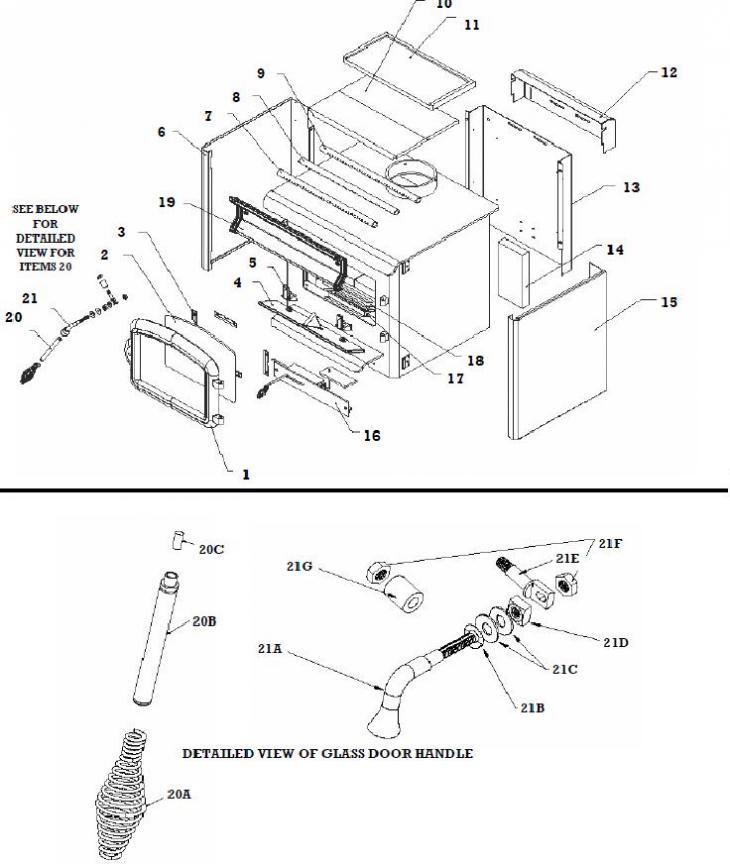 Defiant Wood Stove Parts