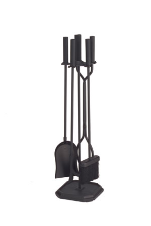 4 pc. - Tool Set - Contemporary - Square Base - Black